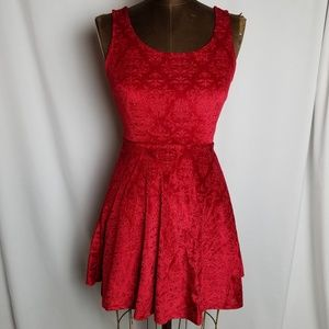 Candies red velvet skater dress size xs